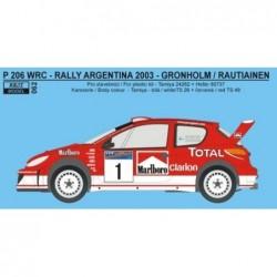 Peugeot 206 WRC 2003 Rally...