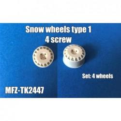 Snow wheels type 1- 4 screw