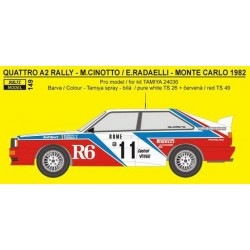 Audi Quattro rally R6 Monte...